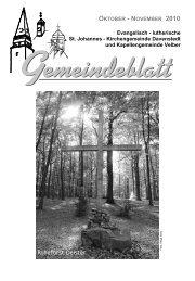 10_4 Gemeindeblatt Okt.-Nov. 2010 - Ev.-luth. Kirchengemeinde St ...