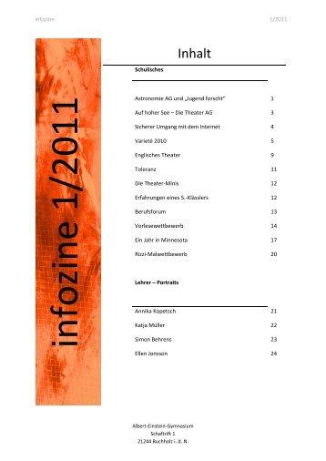 Infozine 1/2011 - Albert Einstein Gymnasium