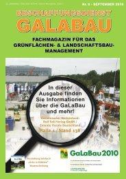 Beschaffungsdienst GaLaBau - Ausgabe September 2010
