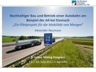 Nachhaltiger Bau und Betrieb einer Autobahn am Beispiel der A4 ...