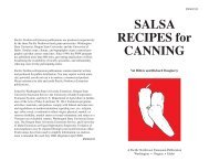 SALSA RECIPES for CANNING - Washington State University