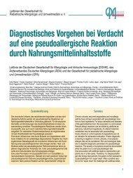 Diagnostisches Vorgehen bei Verdacht auf eine pseudoallergische ...