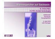 Wärmespeicher auf Salzbasis - Technologie Thüringen