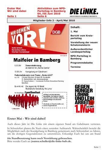 Wir sind dabei! - DIE LINKE. Kreisverband Bamberg/Forchheim