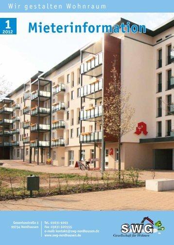 Mieterzeitung 1, 2012 - SWG-Nordhausen