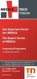 Programm des MEDICA TECH Forum - User Interface Design GmbH