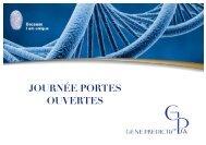 JOURNÉE PORTES OUVERTES - Gene Predictis