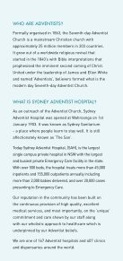 Adventist 'Christianity in Action'. - Sydney Adventist Hospital - Page 2