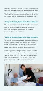 Adventist 'Christianity in Action'. - Sydney Adventist Hospital - Page 5