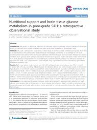 Nutritional support and brain tissue glucose metabolism in poor ...