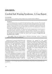 Cerebral Salt Wasting Syndrome: A Case Report