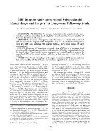MR Imaging After Aneurysmal Subarachnoid Hemorrhage and ...