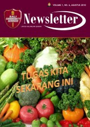 VOLUME 1, NO. 6, AGUSTUS 2010 - Bali Community Services