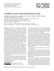 Variability of aerosol vertical distribution in the Sahel - Atmospheric ...
