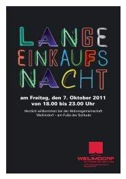 am Freitag, den 7. Oktober 2011 von 18.00 bis 23.00 Uhr - Weilimdorf