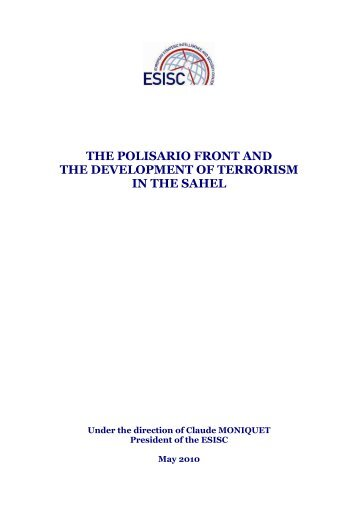 the polisario front and the development of terrorism in the sahel - Esisc