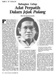 Adat Perpatih Dalam jejak Pulang - Malay Civilization