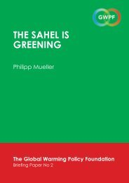 THE SAHEL IS GREENING - The Global Warming Policy Foundation