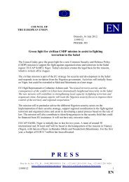Green light for civilian CSDP mission to assist in fighting ... - Europa
