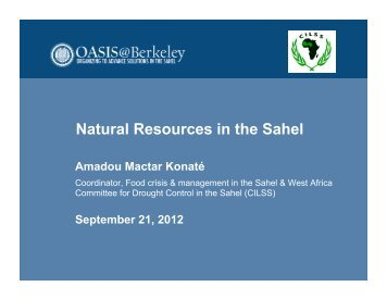 Natural Resources in the Sahel - Bixby Center for Population, Health ...