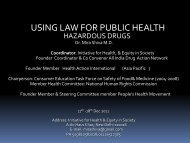 USING LAW FOR PUBLIC HEALTH - Human Rights Law Network