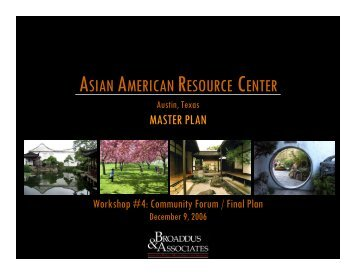 ASIAN AMERICAN RESOURCE CENTER - Pegasus Planning