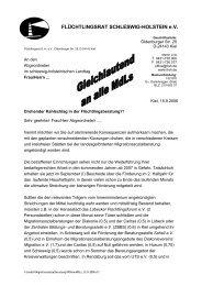 Schreiben an alle Abgeordneten des Kieler Landtages