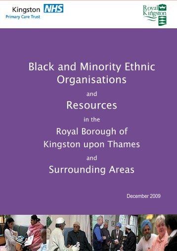 Black and Minority Ethnic Organisations Resources - Royal Borough ...