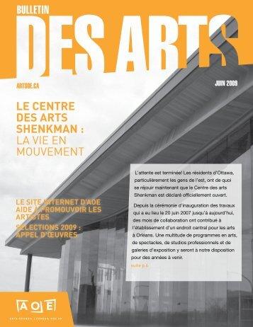 le centre des arts shenkman : la vie en mouvement - Arts Ottawa ...
