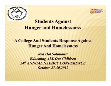 Students Against Hunger and Homelessness - National Association ...