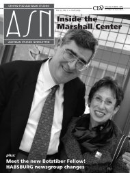 Inside the Marshall Center - Center for Austrian Studies - University ...