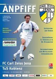 FC Carl Zeiss Jena TuS Koblenz