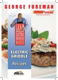 ELECTRIC GRIDDLE Recipes - George Foreman