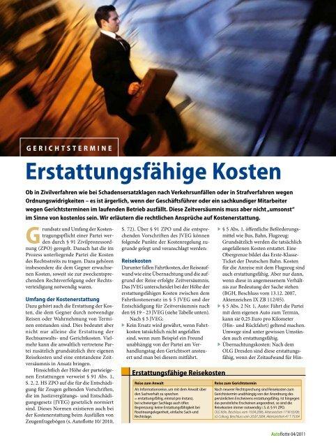 Erstattungsfähige Kosten - Kasten & Pichler Rechtsanwälte