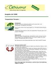 Ausgabe Juli 2008 - Geniushof eV - Lebensfreude durch Integration