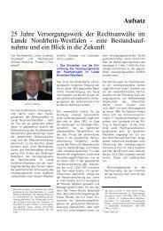 Aufsatz - Versorgungswerk der Rechtsanwälte im Lande Nordrhein ...
