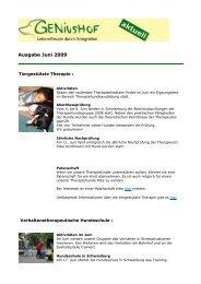 Ausgabe Juni 2009 - Geniushof eV - Lebensfreude durch Integration