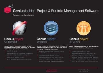 Project & Portfolio Management Software - Genius Inside