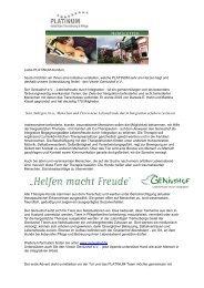 Platinum Newsletter - Geniushof eV - Lebensfreude durch Integration