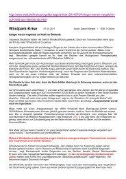 Windpark Krise - BI-Knoten