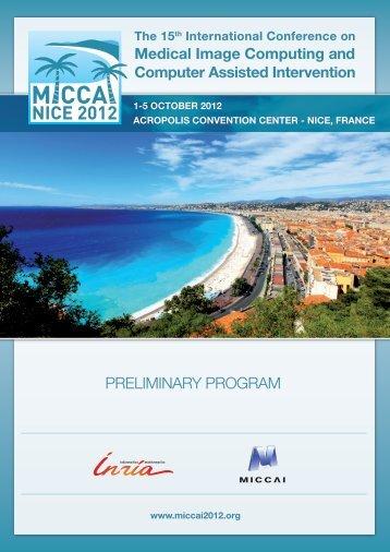 PRELIMINARY PROGRAM - miccai 2012