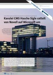 Kanzlei CMS Hasche Sigle sattelt von Novell auf Microsoft um