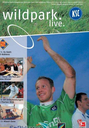 Saison 2006/07, Ausgabe 6/2007, 15. April - Karlsruher SC
