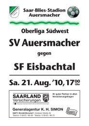 10-11 Ausgabe 03 Eisbachtal.indd, page 1-16 ... - SV Auersmacher