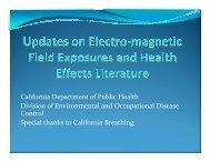 PowerPoint Slides from 10/26/2009 EMF Webinar - Environmental ...