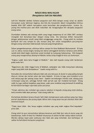MAJLIS WALI-WALI ALLAH (Pengalaman Sahl bin Abdullah)