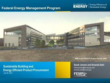 Federal Green Challenge Energy Webinar: Sustainable Building ...