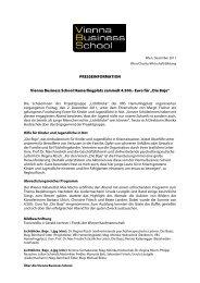 PRESSEINFORMATION Vienna Business School Hamerlingplatz ...