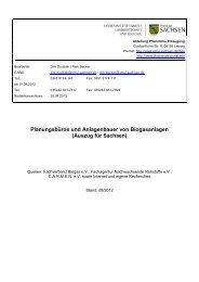 Planer von Biogasanlagen in Sachsen