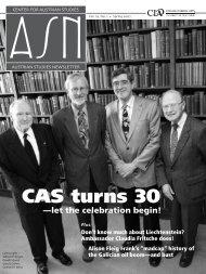 CAS turns 30 - Center for Austrian Studies - University of Minnesota